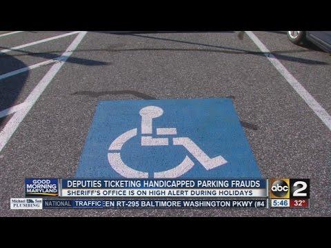 Deputies ticketing handicapped parking frauds