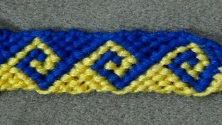 ► Friendship Bracelet Tutorial - Intermediate - The Greek Wave