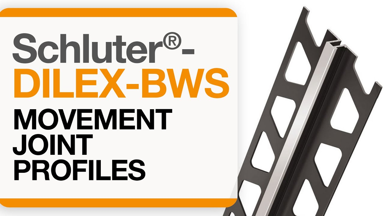 How to install a movement joint in tile: Schluter®-DILEX-BWS - YouTube