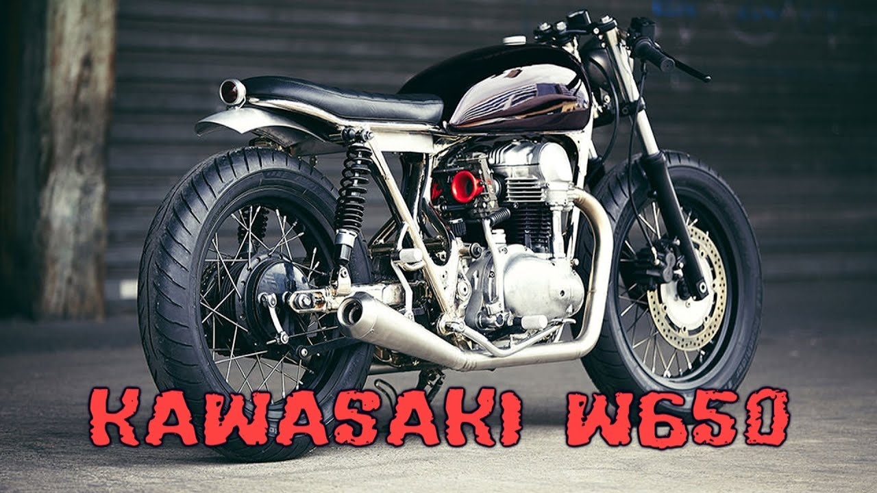 kawasaki w650 cafe racer youtube. Black Bedroom Furniture Sets. Home Design Ideas