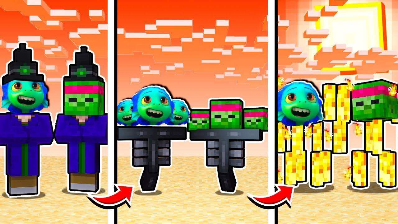 Minecraft MAIS chaque MINUTE on se TRANSFORME en nouveau MOB ! 😨 Luca et Diabolofeat35 !