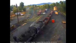 9/10/2018 The advanced school freight returns to Chama after its first day
