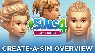 Create-A-Sim Overview/Review + Sims Camp Q&A! (Get Famous) 👚📝 — The Sims 4 News & Info