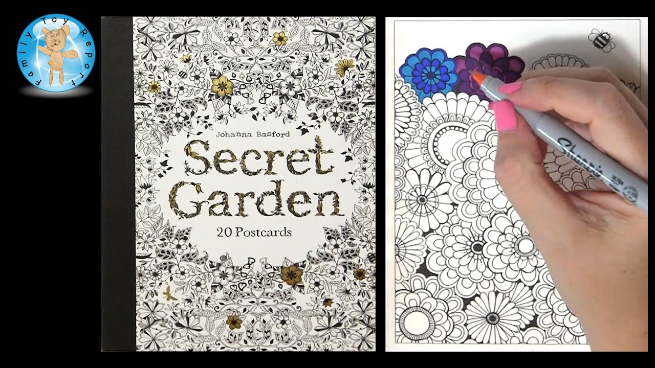 Secret Garden By Johanna Basford Adult Coloring Book Postcards Flowers