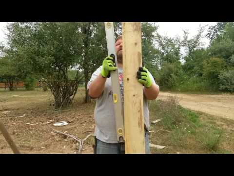 Building A Wooden Corral For Highland Cattle Part 1