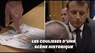 Macron à Notre-Dame: les images inédites du président pendant l'incendie