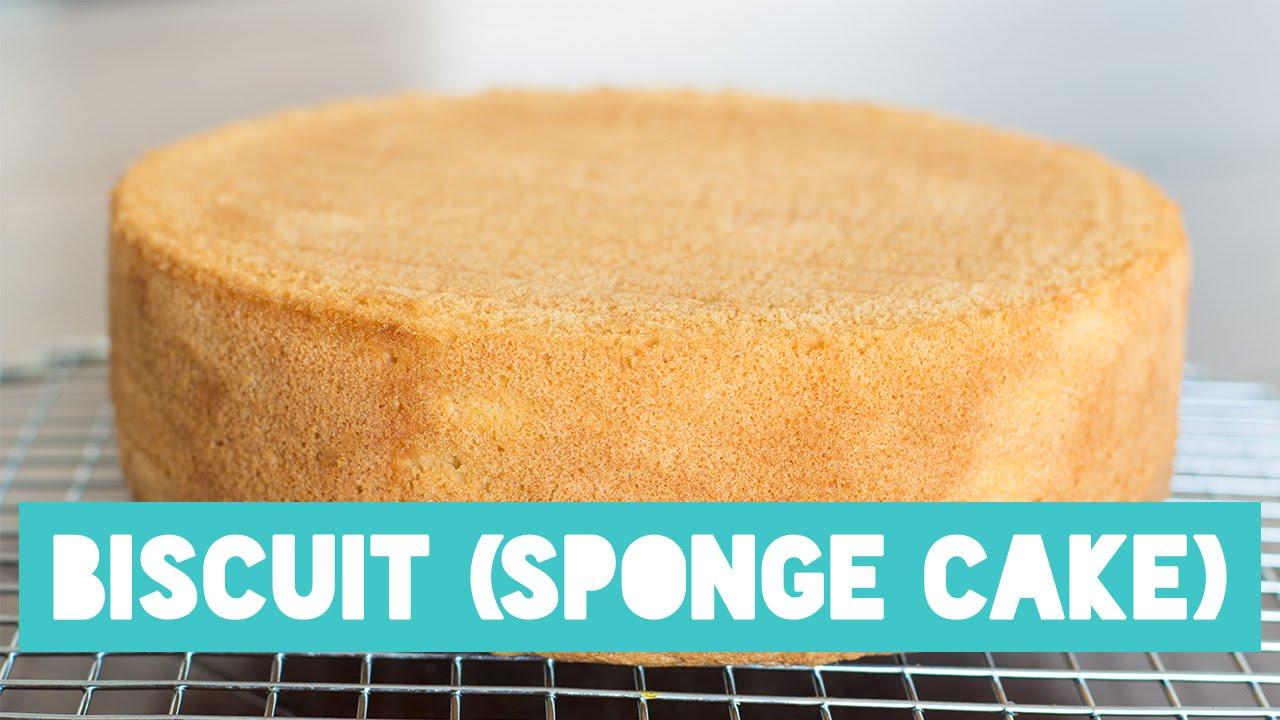 Sponge cake biscuit recipe