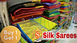 Saravana Stores Padi | Silk Saree Collections | Buy 1 Get 1 Free | Shopping vlog