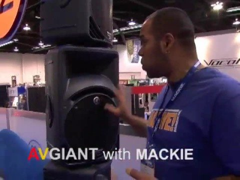 Mackie SRM-450 V2 Powered Speakers at NAMM w/ AVGIANT
