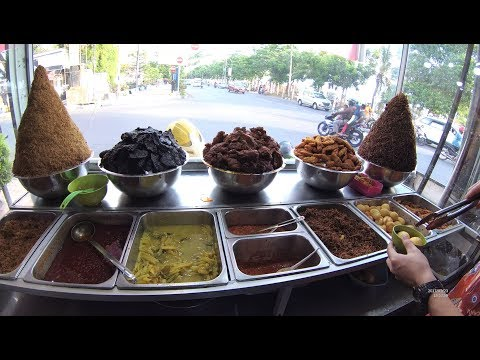 Indonesia Makassar Street Food 1965 Part.2 Mixed Rice  Nasi Campur Losari 99  YN010370