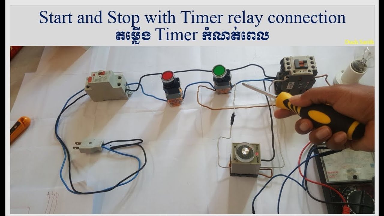 Practice Connect Timer Relay With Start Stop Button Wiring