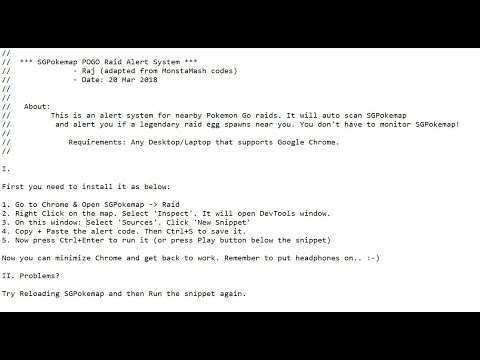 SGPokemap Pokemon Go Raid Alert System - YouTube