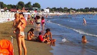 West beach in Side, Turkey