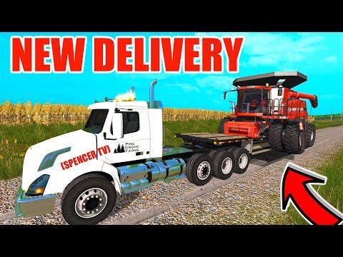 FARMING SIMULATOR 2017 | IT ARRIVED! THE NEW CASE IH 8120 + MULTIPLAYER BEAN HARVEST | EP #10