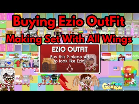 Buying New Ezio OutFit & Making Set With All Wings  Growtopia