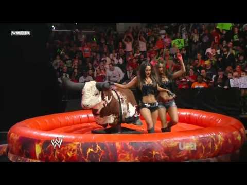 Diva Bull Riding Contest HD (WWE Raw 22nd of Feb, 2010)