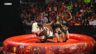 Diva Bull Riding Contest HD (WWE Raw 22nd of Feb, 2010) thumbnail