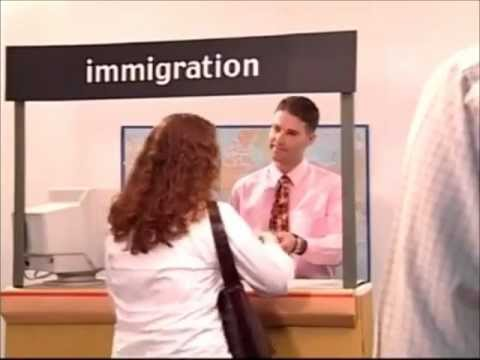 at the customs desk in Australia