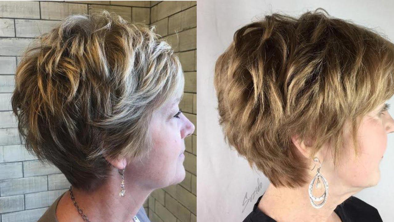 For Women 40 50 60 Short Haircuts 2021 Youtube