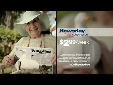 Newsday Special Offer commercial