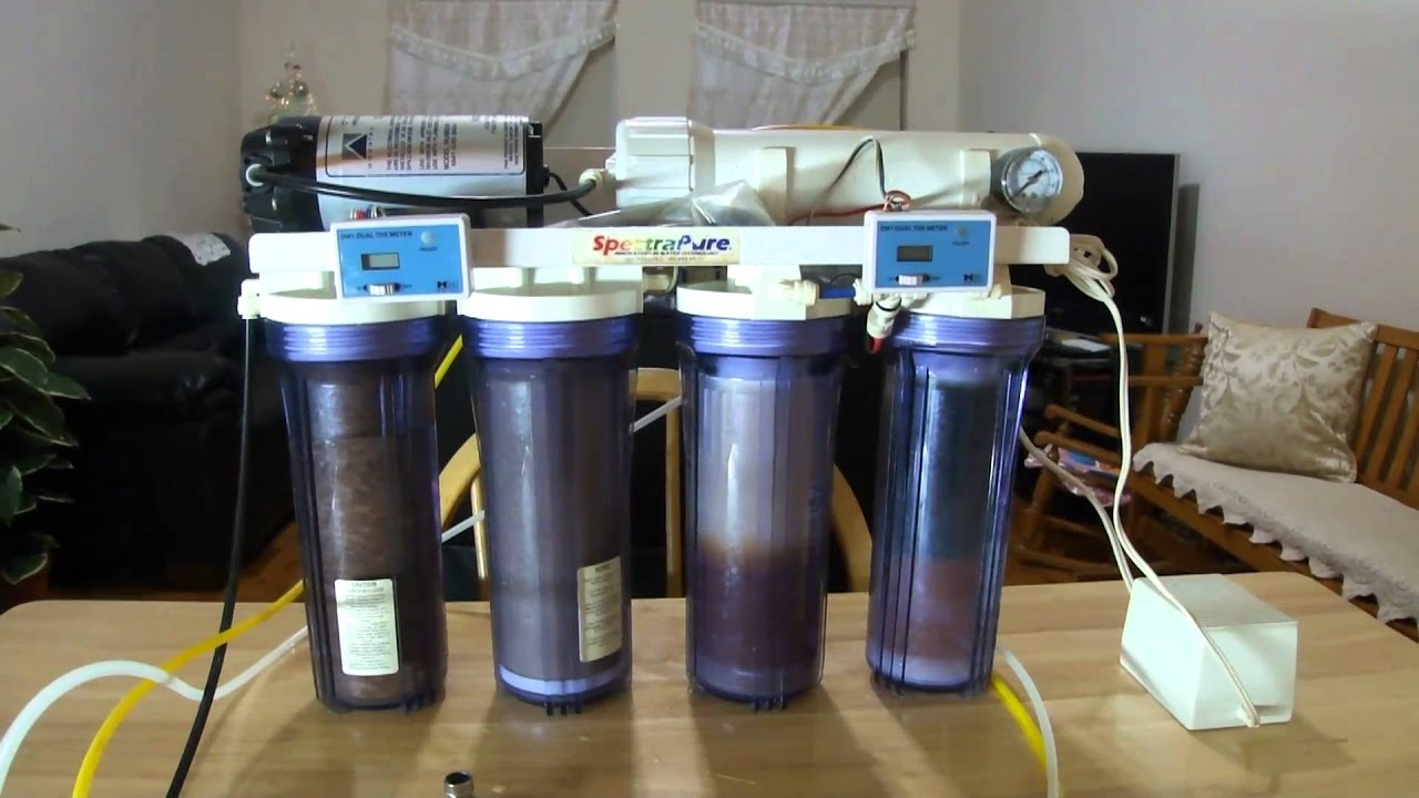 Reef Aquarium Ro Di Filter System Youtube