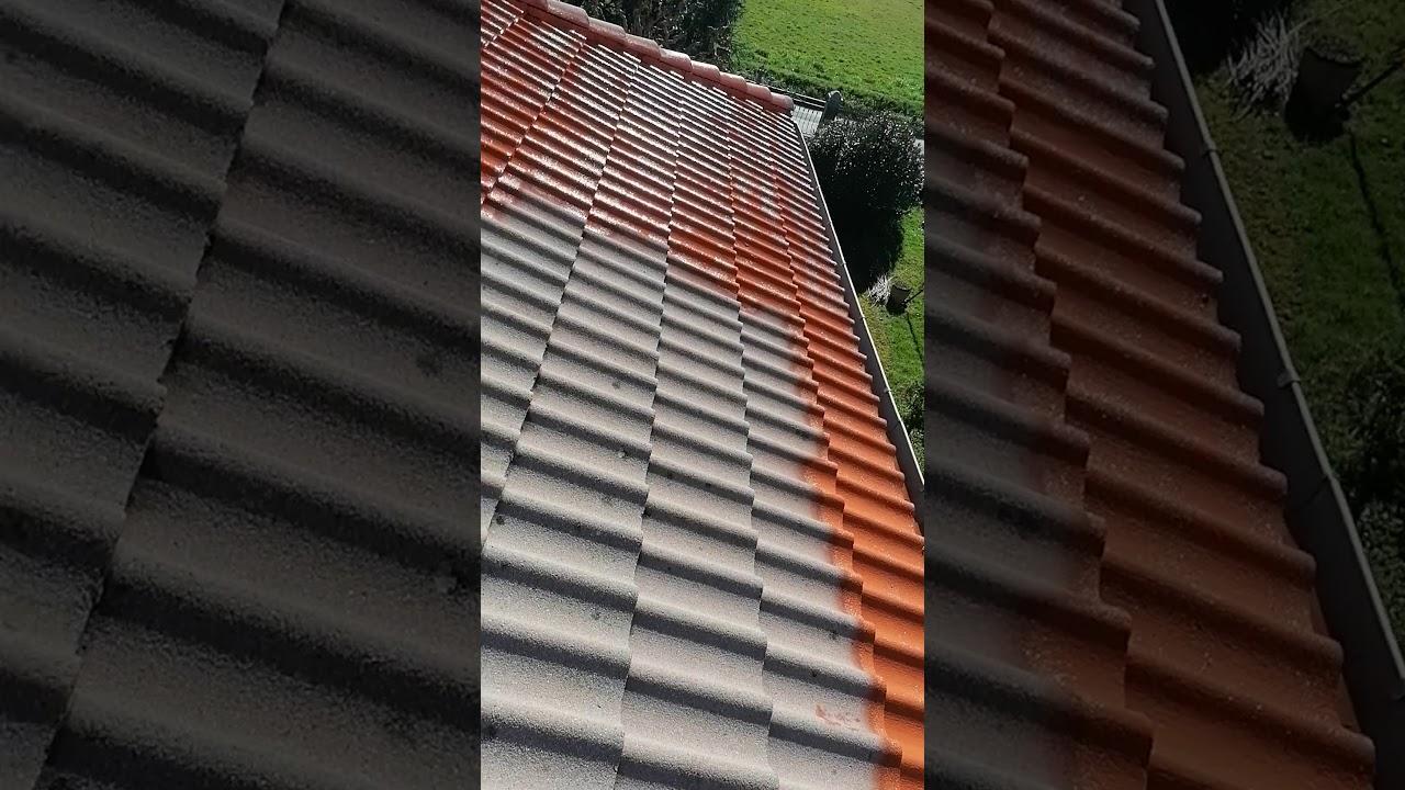 Peinture toiture avec résine d'étanchéité coloré - YouTube