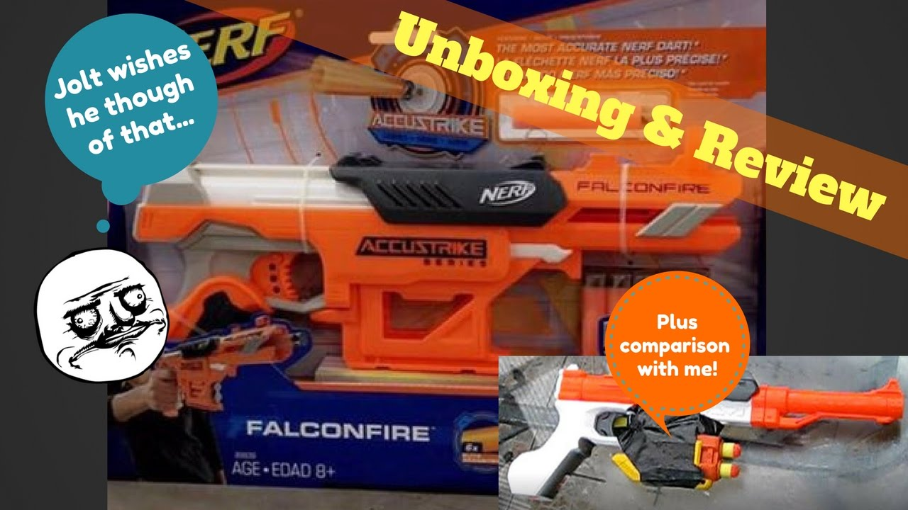 Nerf Accustrike Falconfire Unboxing Review And Comparison