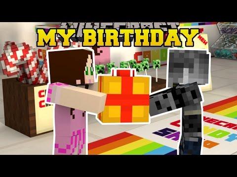 Minecraft: MY BIRTHDAY PARTY!! - BIRTHDAY PRESENT HUNT - Custom Map