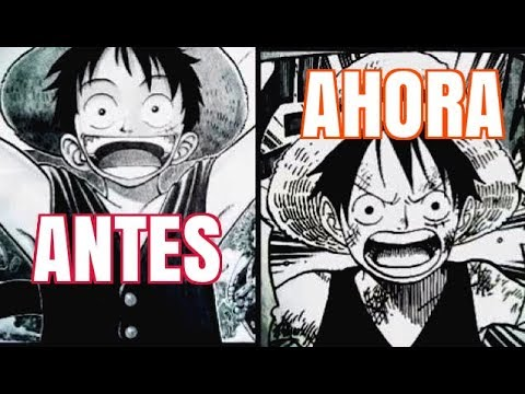 Evolución del dibujo en One Piece - Eiichiro Oda