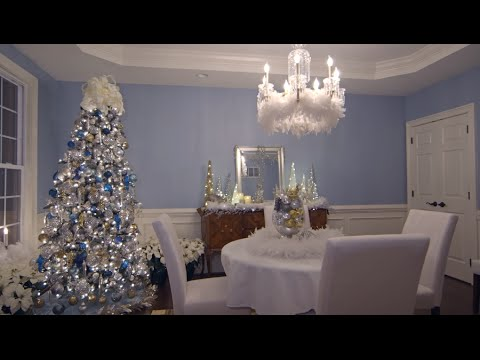 Lisa S Dining Room Decorated For Christmas Youtube