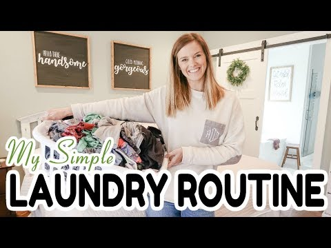 MY SIMPLE LAUNDRY ROUTINE 2019 // FAMILY OF 4 // HOW I KEEP UP WITH LAUNDRY