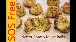 Sweet Potato Millet Balls | Air Fryer Recipe | Salt-/Oil-/Sugar-free | WFPB | Vegan