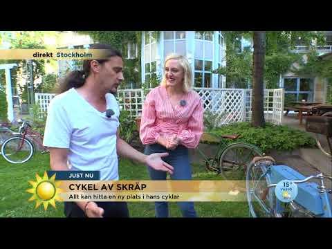 Han gör konst av gamla cyklar och skrot - Nyhetsmorgon (TV4)