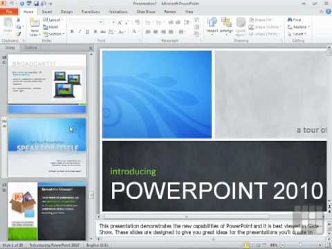 Powerpoint 2010 tutorial using powerpoint templates youtube toneelgroepblik Images