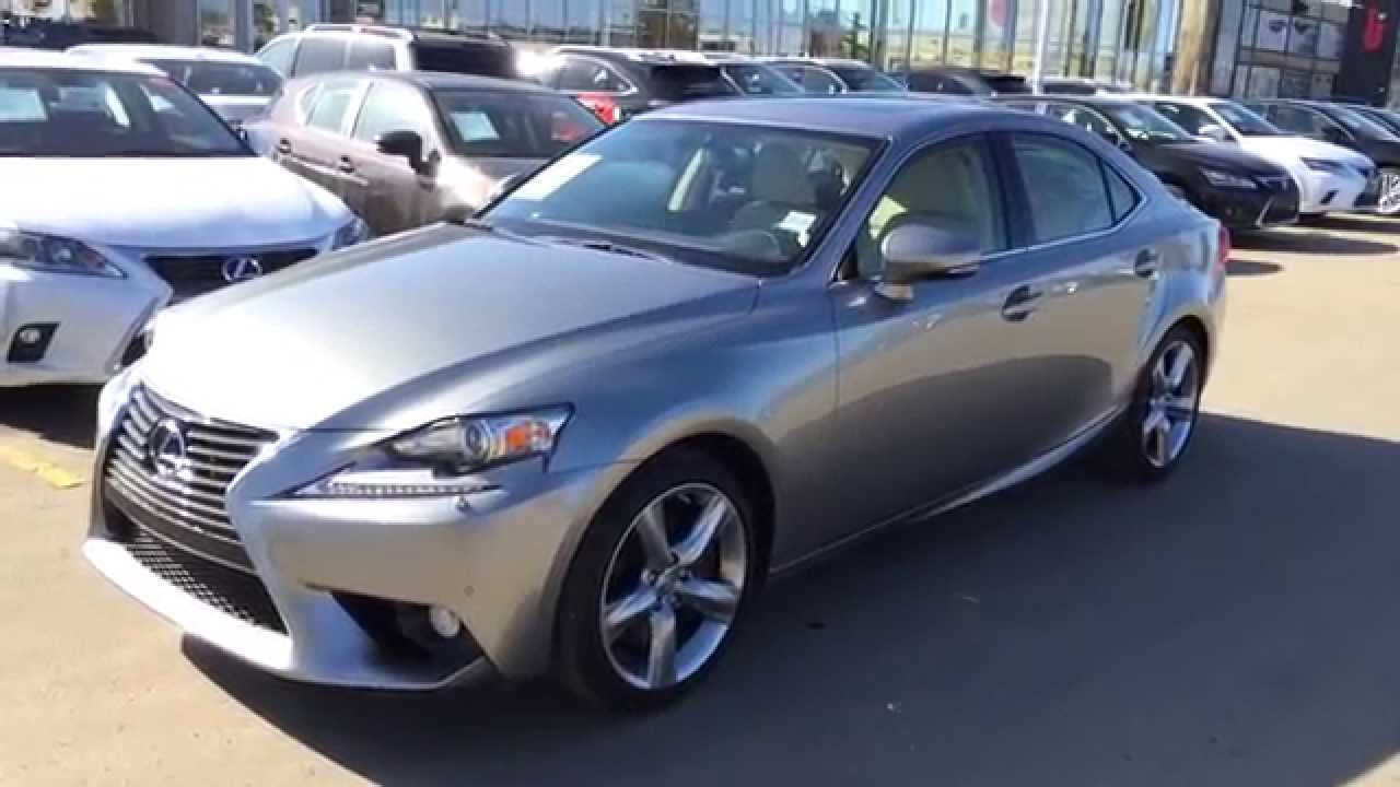 Wonderful 2014 Lexus IS 350 AWD   Atomic Silver On Parchment   Luxury Package Review  Alberta   YouTube
