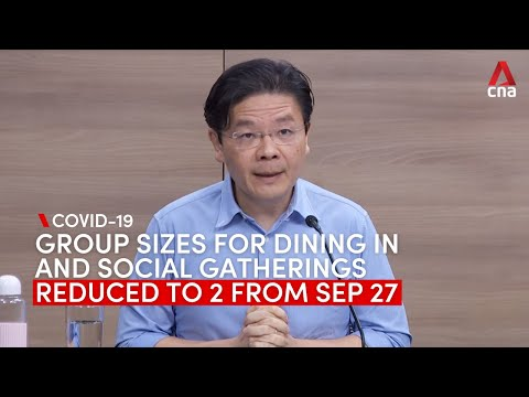 Group size limit for dining in, social gatherings in Singapore down to 2 from Sep 27