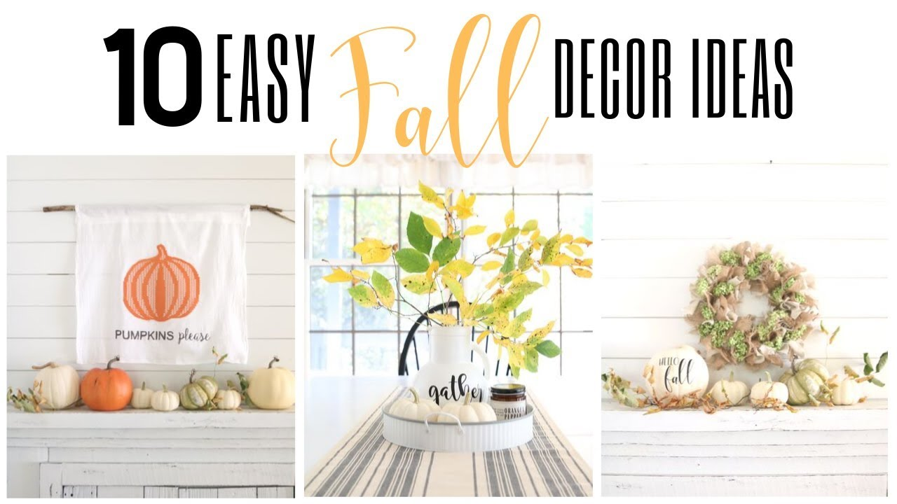 Fall Diy Decor 2019 Dollar General Fall Diy Fall Dollar Store Decor Fall Decorating Ideas Youtube