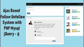 Ajax Based Follow Unfollow System with PHP Mysql jquery - 8