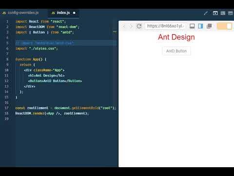 Antd customize theme