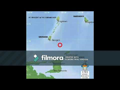 Earthquake in St.Vincent and the Grenadines November 5th 2017