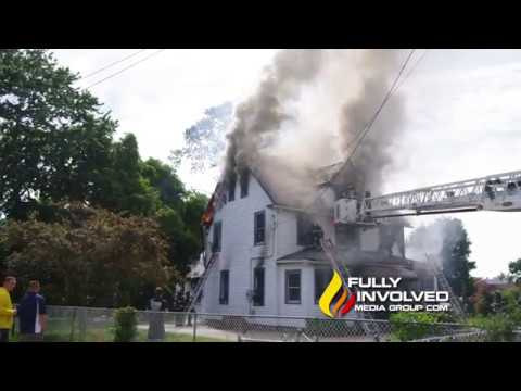 Central Islip,NY: Firefighter Injured After House Fire on Hawthorne Avenue 06-22-18