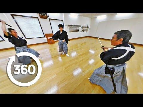 Professional Japanese Samurai Battle It Out In Virtual Reality (360 Video)