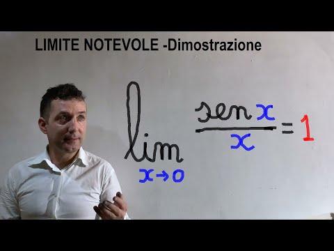 Limite Notevole Sen (x) /x  Con X Che Tende A Zero. Dimostrazione .