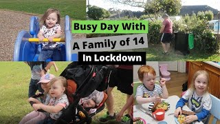 BUSY DAY WITH A FAṀILY OF 14 | GARDENING | FREEZER CLEAROUT | PARKFUN ALL IN LOCKDOWN