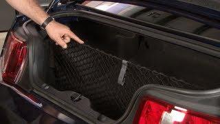 Mustang Ford Trunk Storage Cargo Net 2005-2014 Installation