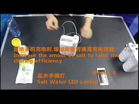 Salt Water Powered LED Light