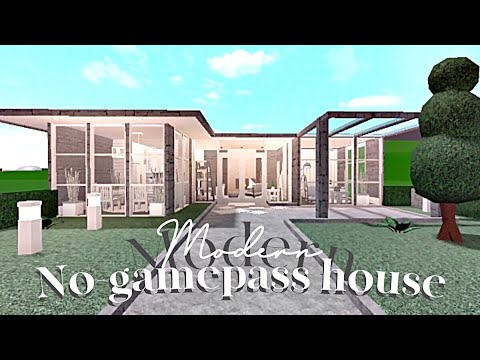 Bloxburg : Modern no gamepass house YouTube
