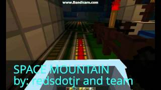 Space mountain ride at minecraft disneyland