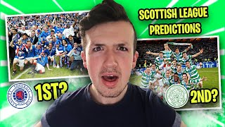 RANGERS or CELTIC to WIN the LEAGUE? MY Scottish Premiership TABLE PREDICTIONS!