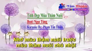 Karaoke Nhạc Chế - Tình Đẹp Mùa Thăm Nuôi - full Beat Thuận Sắc Màu